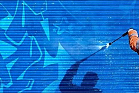 Пескоструйная очистка фасадов от графити